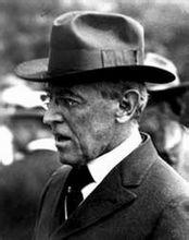 时任美国总统伍德罗·威尔逊
