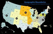 联邦地方法院分区图